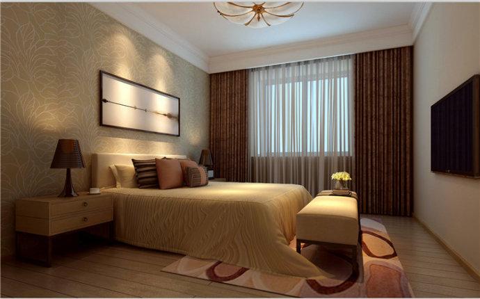 东方润景 现代简约 三居 家装 整体 卧室图片来自郑州实创装饰啊静在东方润景120平现代简约三居的分享