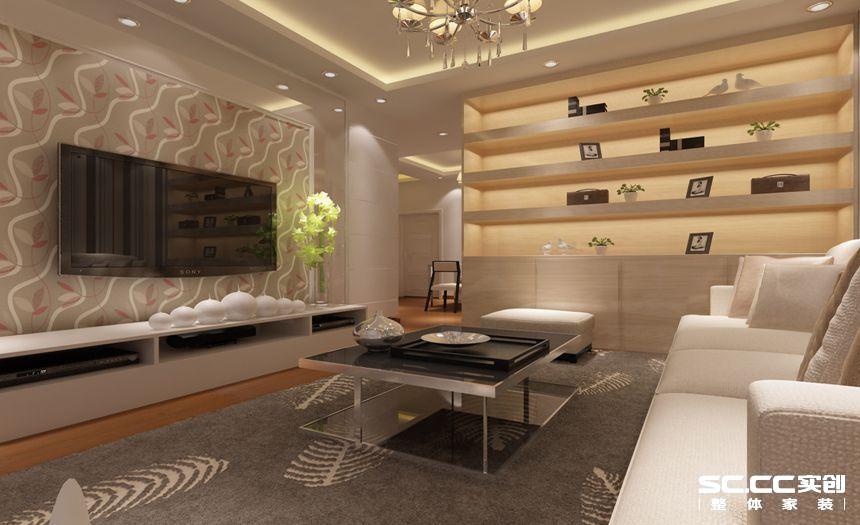 天伦星钻 92平装修 现代简约 客厅图片来自郑州实创装饰-杨淑平在天伦星钻92平现代简约风格的分享