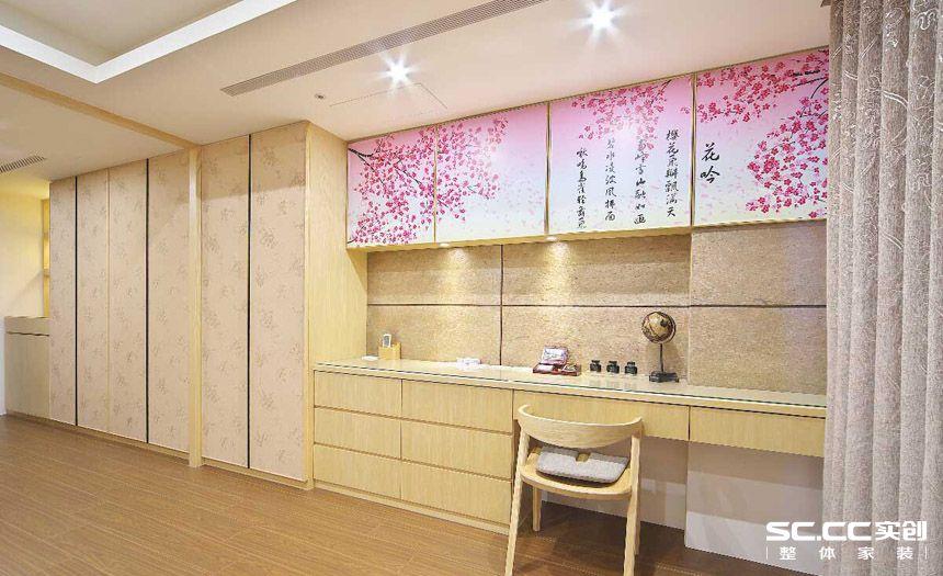 三居 简约 日式 客厅 餐厅 卧室 书房 书房图片来自实创装饰晶晶在绿洲香格丽136平日式简约之家的分享