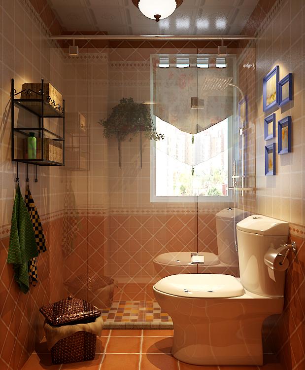 田园 红树西岸 自然舒适 卫生间图片来自自然元素装饰在红树西岸自然田园风装修案例的分享