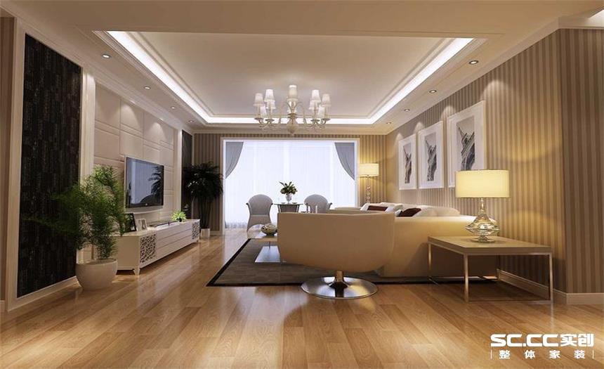 简约 二居 白领 收纳 80后 小资 客厅图片来自实创装饰百灵在现代简约中的家110平米的分享