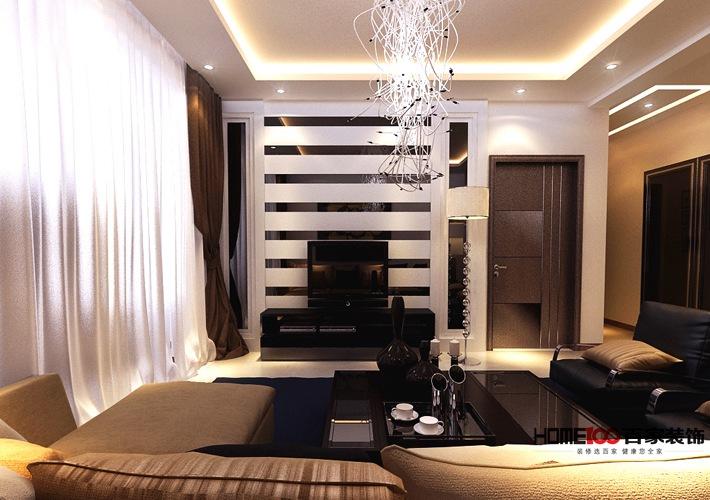 现代 三居 白领 收纳 80后 小资 客厅图片来自百家装饰杨乐乐在奕聪花园110现代风格的分享