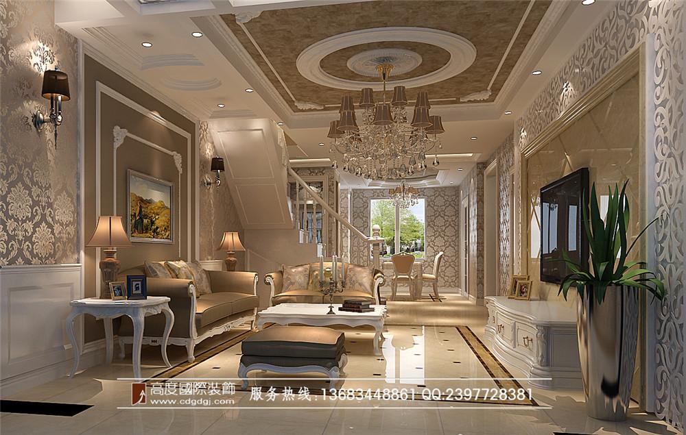 欧式风格 高度国际 装修设计 九龙仓御园 客厅图片来自成都高度国际在百合花园装修—成都高度国际的分享
