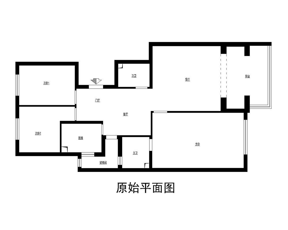 三居 白领 收纳 小资 旧房改造 80后 户型图图片来自实创装饰完美家装在高教新城125平中式古典风格案例的分享
