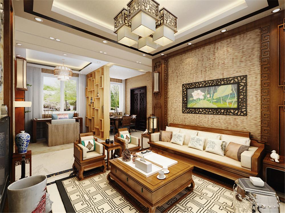 中式 二居 白领 收纳 80后 小资 客厅图片来自阳光放扉er在北宁湾-94㎡-中式风格的分享