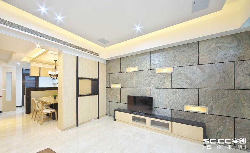 三居 简约 日式 客厅 餐厅 卧室 书房 客厅图片来自实创装饰晶晶在绿洲香格丽136平日式简约之家的分享