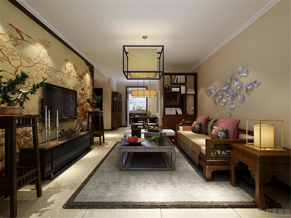 三居 中式 白领 收纳 80后 小资 客厅图片来自阳光放扉er在六纬路小区-100㎡-中式风格的分享