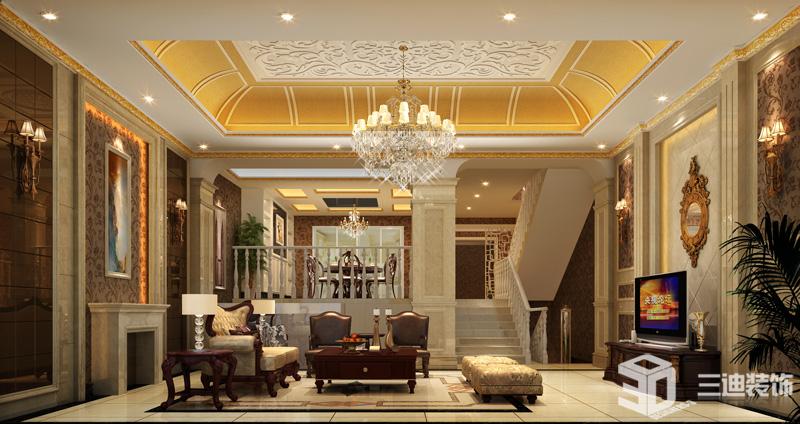 欧式 别墅 经典 客厅图片来自三迪装饰在振业城别墅-欧式奢华经典的分享