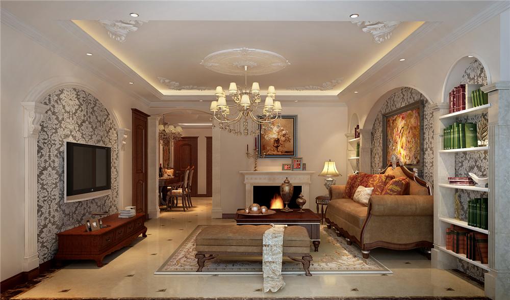 三居 白领 收纳 小资 旧房改造 80后 客厅图片来自实创装饰完美家装在高教新城125平中式古典风格案例的分享