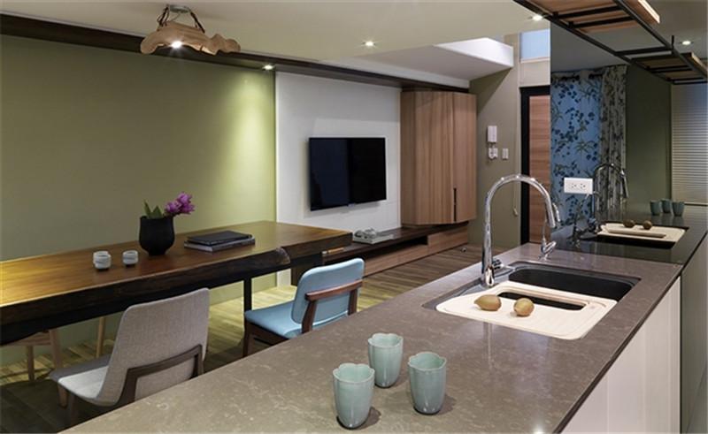 复试 现代简约 简洁明快 纯净 厨房图片来自北京精诚兴业装饰公司在海棠公馆的分享