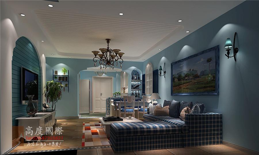 地中海风格 高度国际 装修风格 成都装修 卧室图片来自成都高度国际在九龙仓御园装修—成都高度国际的分享