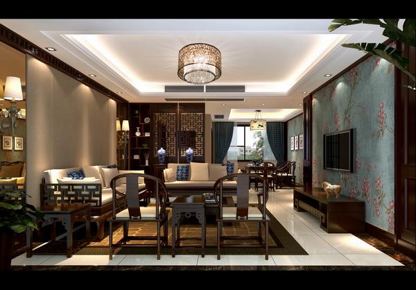 新中式风格 温馨自然 天府欣苑 四居室 客厅图片来自四川新空间装饰在天府欣苑温馨自然新中式风格的分享