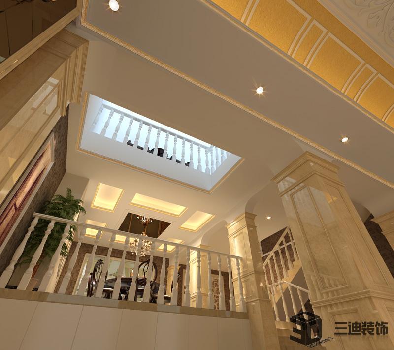 欧式 别墅 经典 楼梯图片来自三迪装饰在振业城别墅-欧式奢华经典的分享