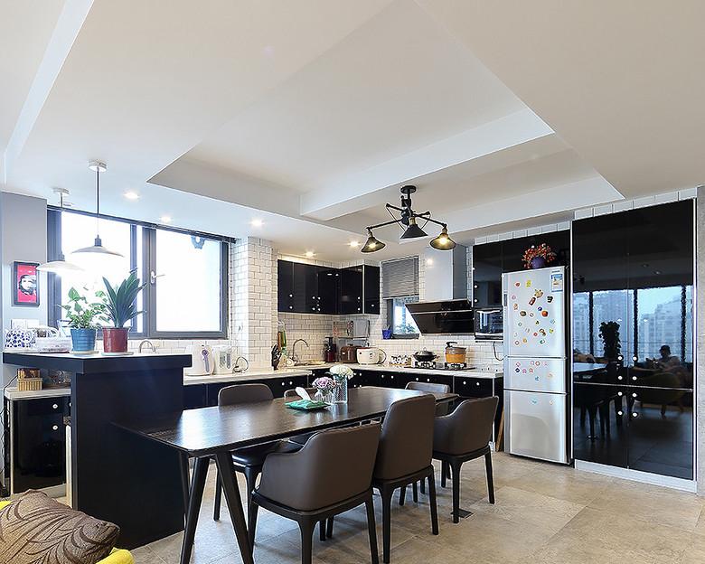 餐厅图片来自家装大管家在105平三室两厅 打造北欧风格豪宅的分享