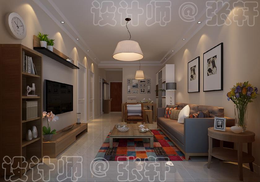 欧式 客厅图片来自阿布的小茅屋15034052435在时尚北欧--北联干休所95平米的分享