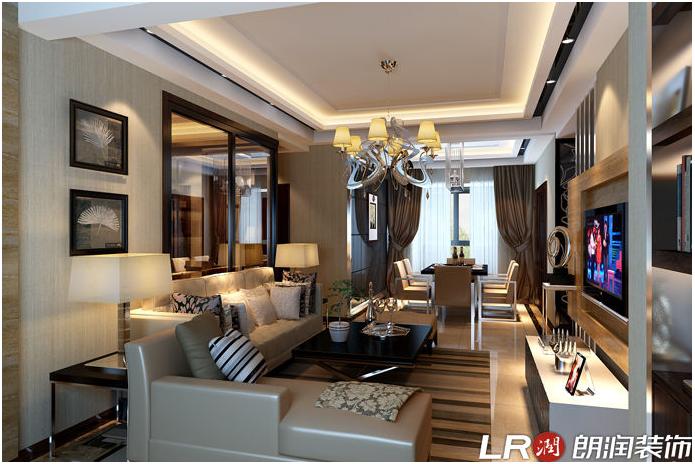 简约 三居 80后 现代 客厅图片来自朗润装饰工程有限公司在理工东苑120平米现代简约风格的分享