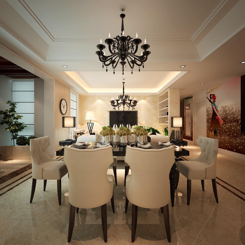 简约 欧式 三居 餐厅图片来自西安业之峰装饰在【曲江风景线】——简欧风格的分享