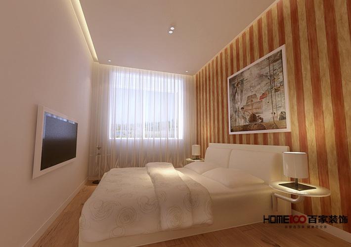 简约 现代 小户型 报价 小资 卧室图片来自百家装饰杨乐乐在保利香槟国际 55平现代简约风格的分享
