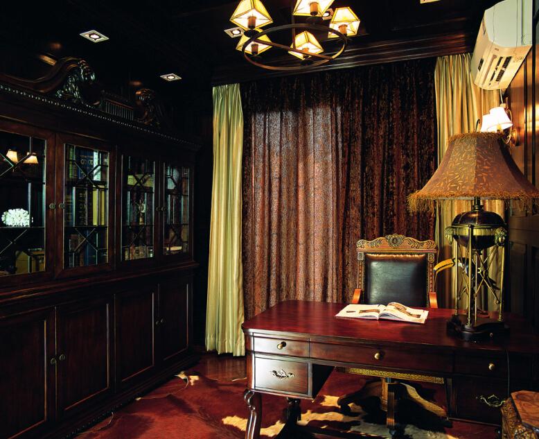 田园 别墅 书房图片来自紫禁尚品设计师李擎在长海御墅美式乡村风格的分享