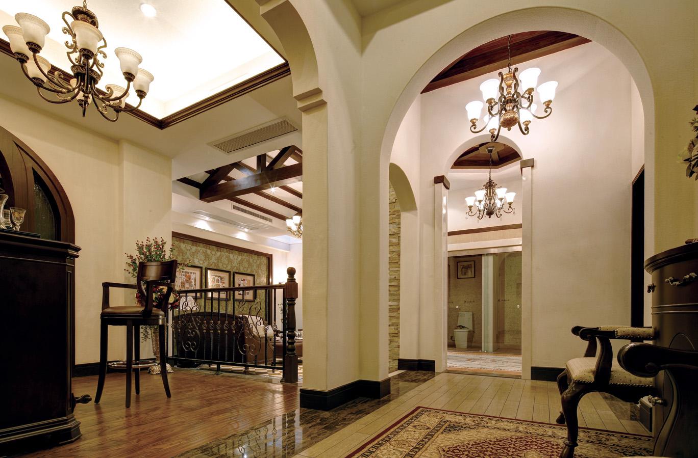 美式臻园 别墅装修 装修风格 别墅软装 装修设计 室内设计 客厅图片来自别墅装修设计yan在浪漫温馨美式臻园案例的分享