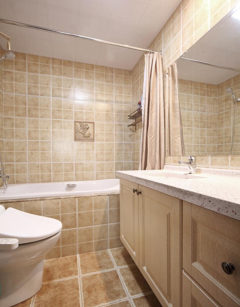 卫生间图片来自家装大管家在淡雅舒适 169平现代主义清爽4居的分享