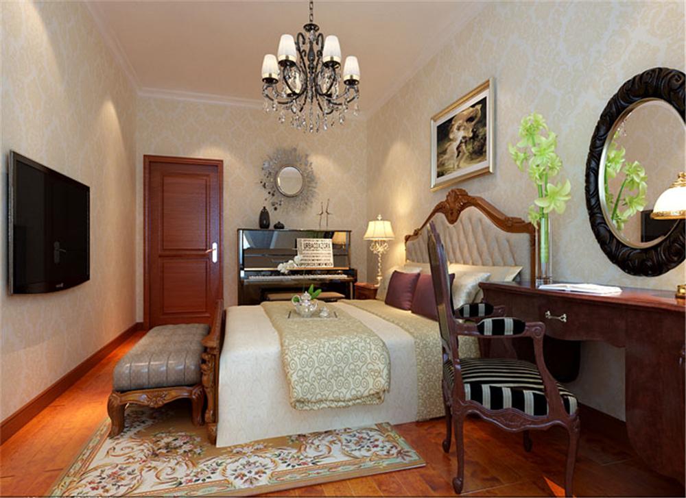 三居 白领 收纳 小资 旧房改造 80后 卧室图片来自实创装饰完美家装在高教新城125平中式古典风格案例的分享
