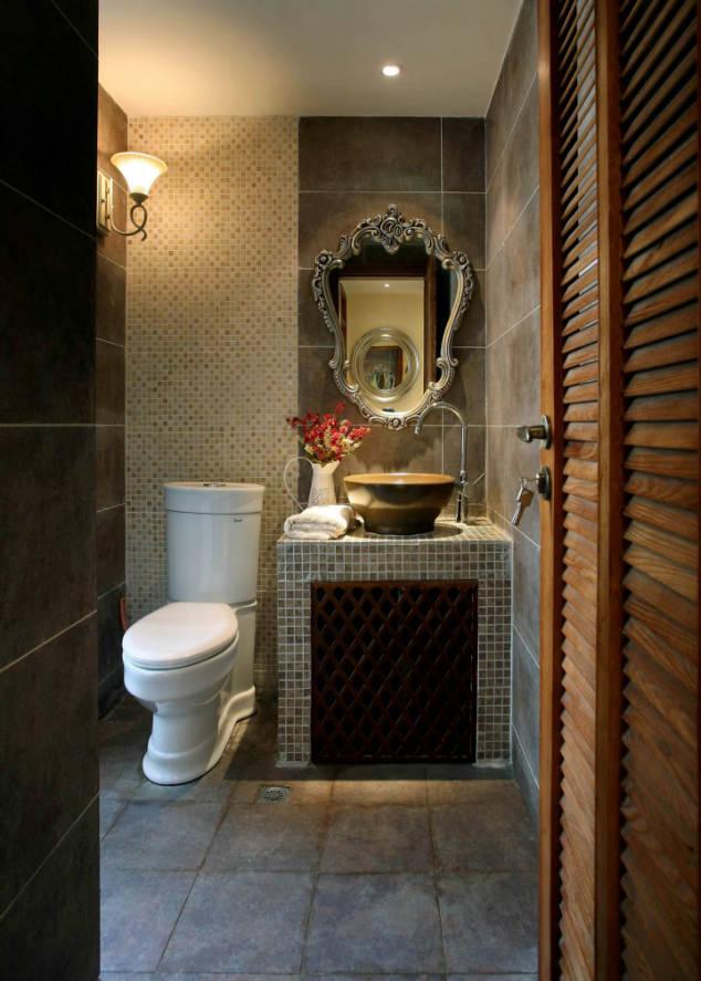 西花汀 158平米 美式乡村 四室 卫生间图片来自cdxblzs在西花汀 158平米 美式乡村 四室的分享