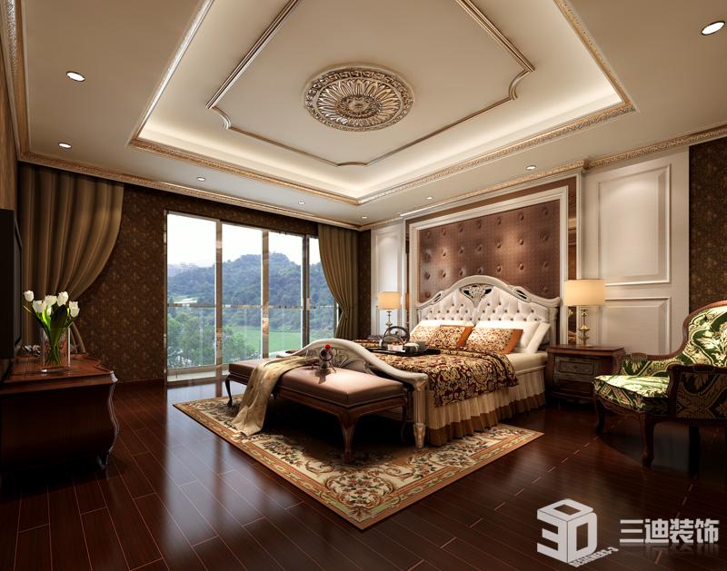 欧式 别墅 经典 卧室图片来自三迪装饰在振业城别墅-欧式奢华经典的分享