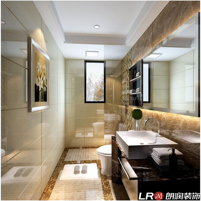 简约 三居 80后 现代 卫生间图片来自朗润装饰工程有限公司在理工东苑120平米现代简约风格的分享