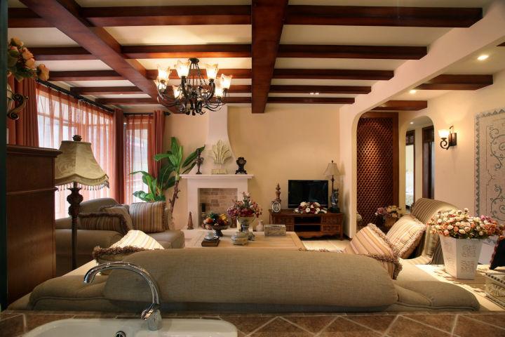 西花汀 158平米 美式乡村 四室 客厅图片来自cdxblzs在西花汀 158平米 美式乡村 四室的分享
