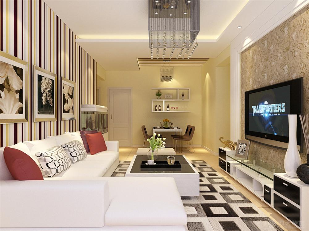 简约 三居 白领 收纳 小资 混搭 客厅图片来自阳光力天装饰在力天装饰-海上国际城98㎡的分享