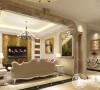 从整体到局部,精雕细琢,大理石,金箔都给人奢华的印象。简化了欧式繁复的线条,体现欧式温馨雅致的风格。