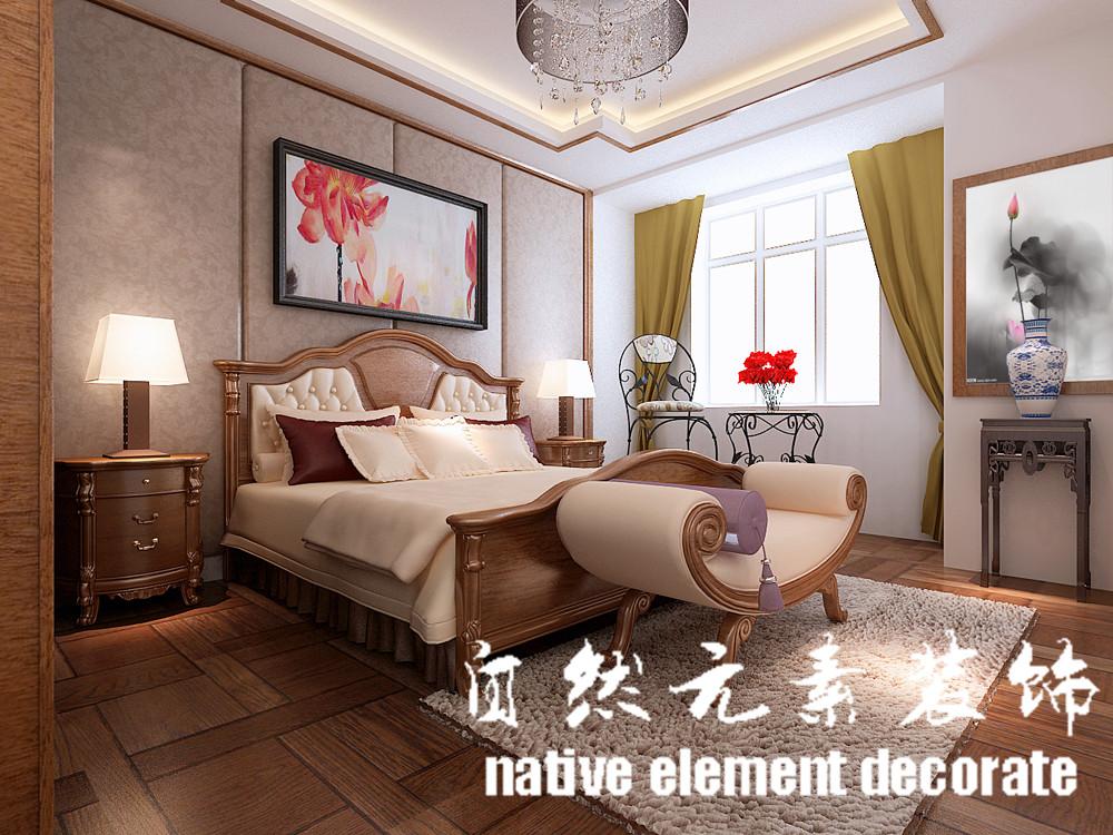 星航华府 中式 一居 卧室图片来自自然元素装饰在星航华府中式风装修案例的分享