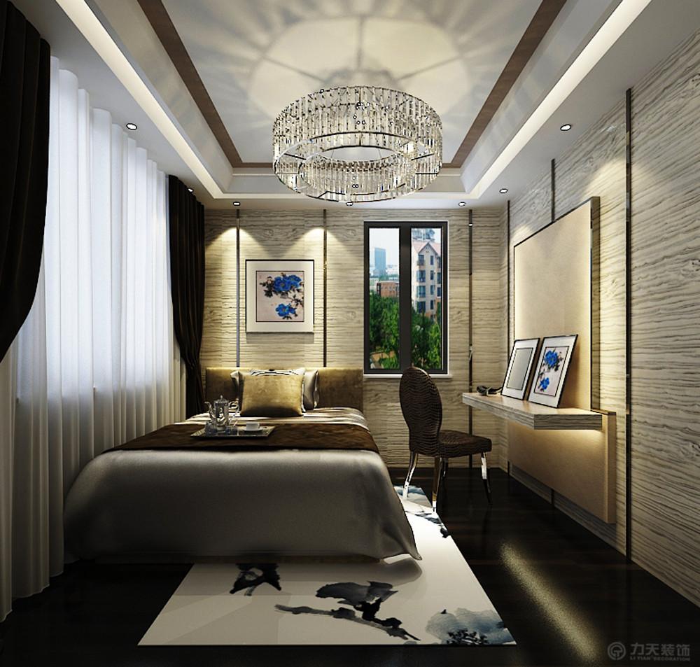 新中式 二居 白领 收纳 小资 80后 卧室图片来自阳光放扉er在海景文苑-141㎡-新中式风格的分享