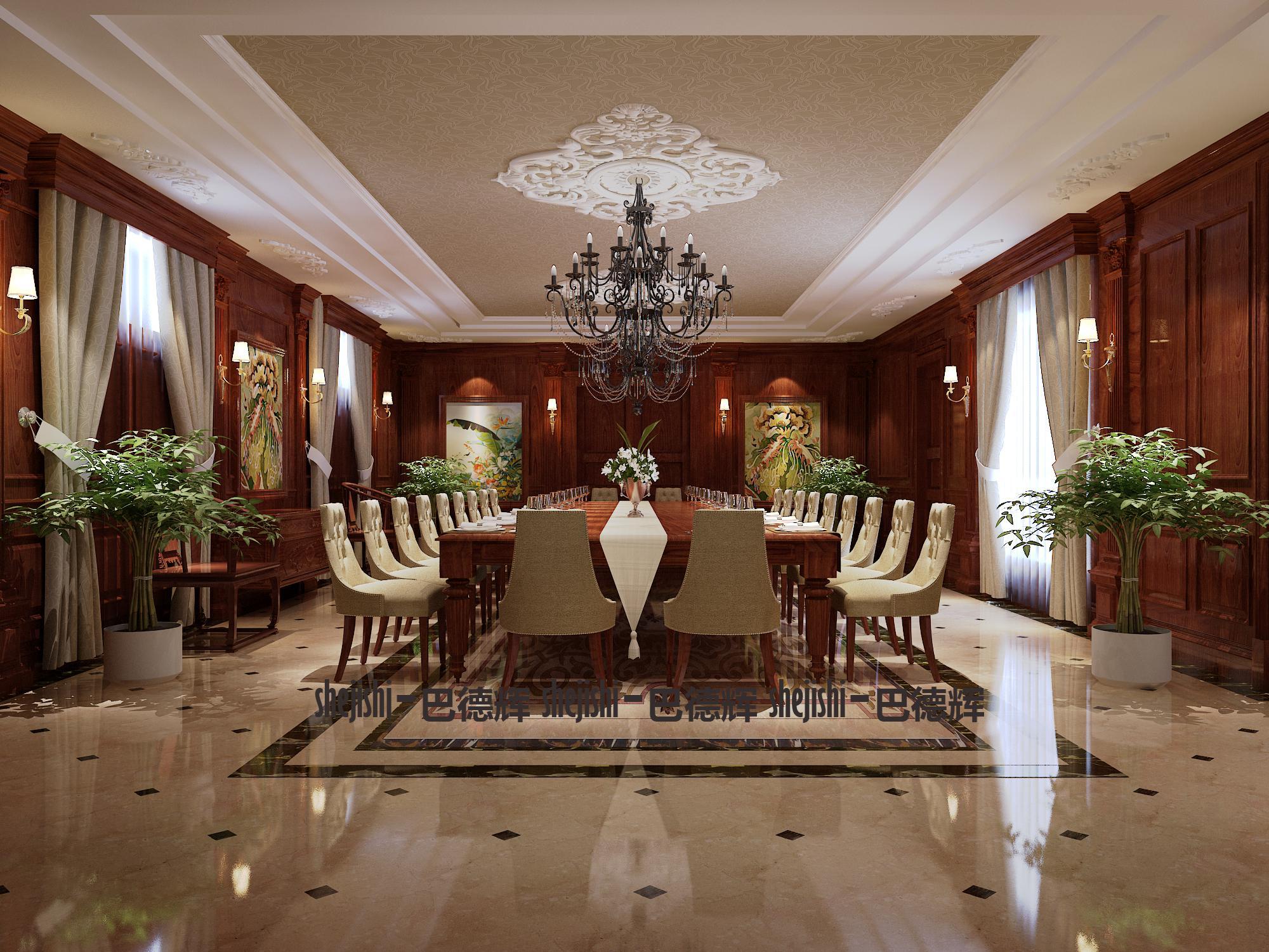 古典 别墅 典雅、端庄 时代特征 客厅图片来自北京精诚兴业装饰公司在桃花源2的分享