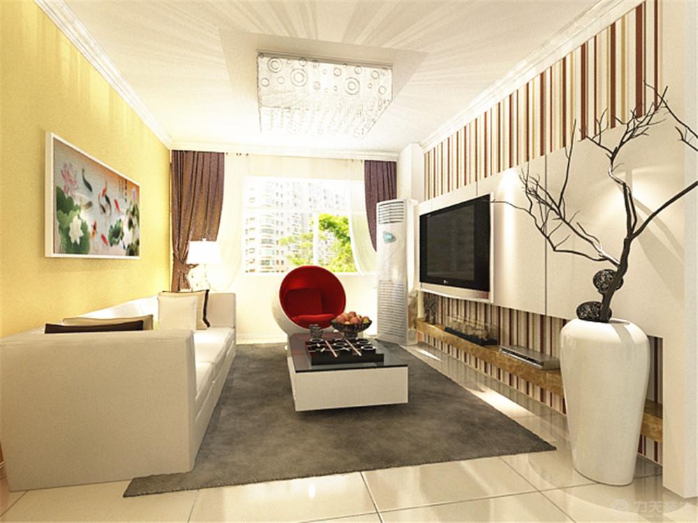 简约 二居 白领 收纳 80后 小资 客厅图片来自阳光力天装饰在力天装饰-南益名仕华庭88㎡的分享