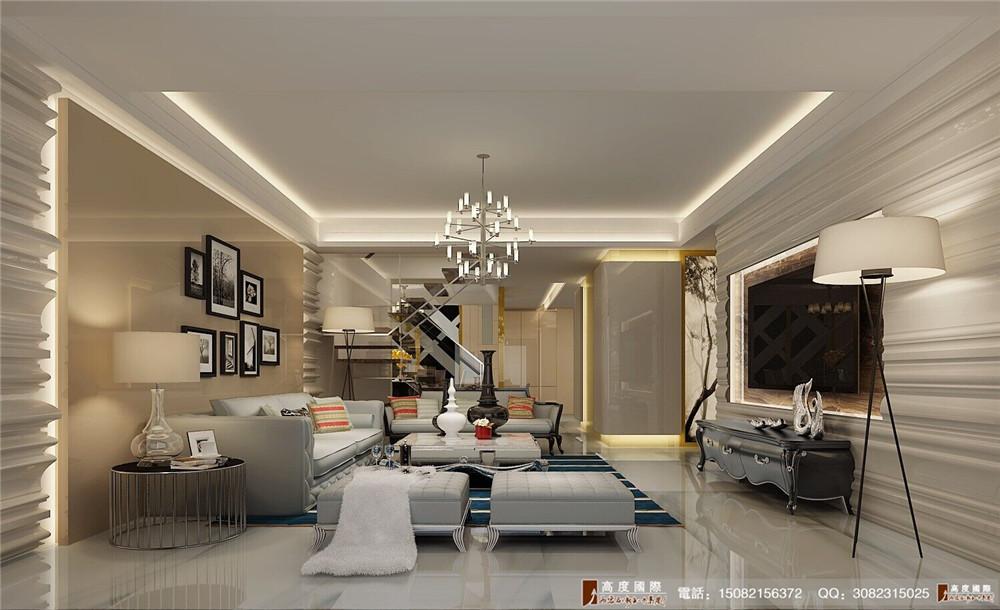 高度国际 成都装修 别墅装修 客厅图片来自成都高端别墅装修瑞瑞在大方简约风格案例.高度国际装饰的分享