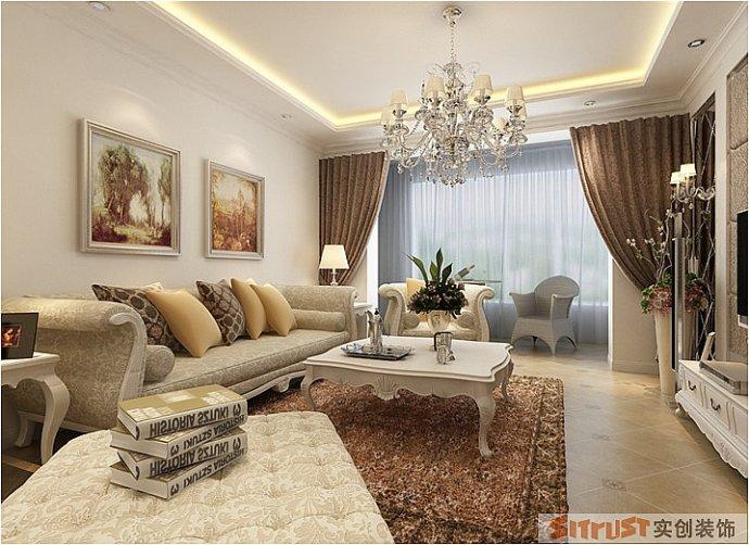 海马公园 欧式 三居 整体 家装 客厅图片来自郑州实创装饰啊静在海马公园135平欧式三居的分享