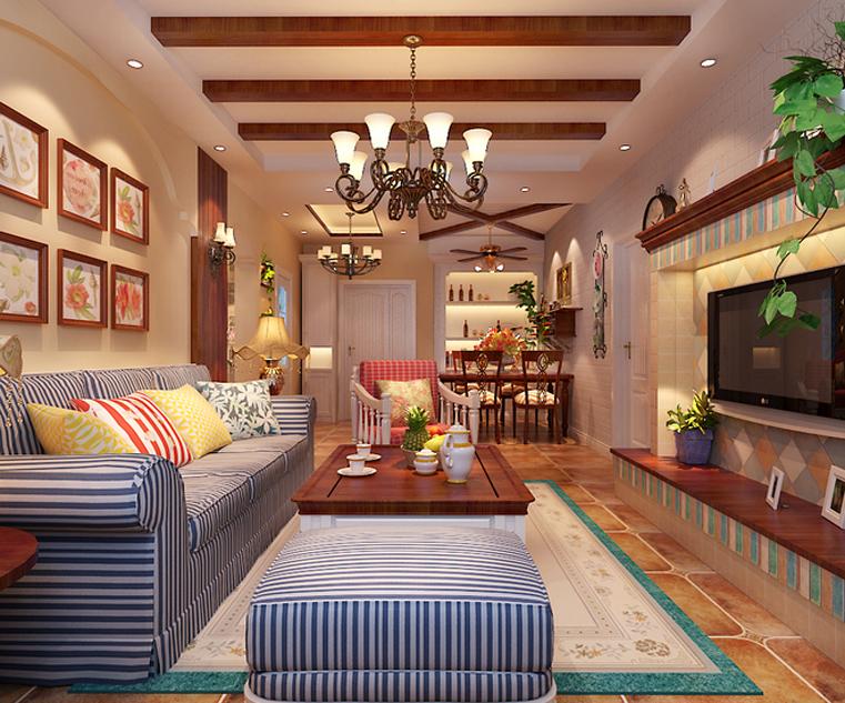 田园 红树西岸 自然舒适 客厅图片来自自然元素装饰在红树西岸自然田园风装修案例的分享