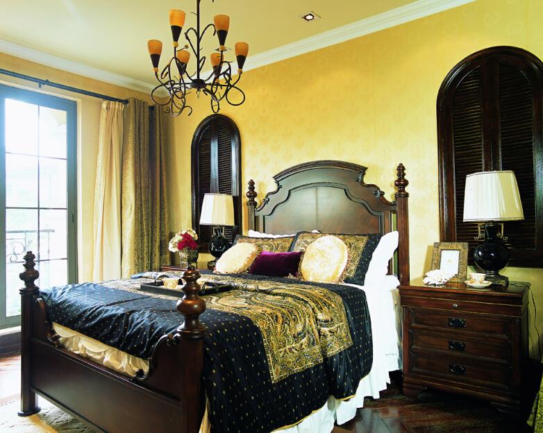 田园 别墅 卧室图片来自紫禁尚品设计师李擎在长海御墅美式乡村风格的分享