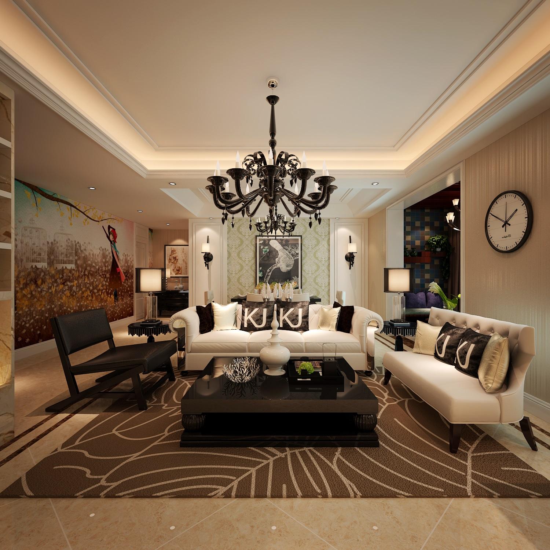 简约 欧式 三居 客厅图片来自西安业之峰装饰在【曲江风景线】——简欧风格的分享
