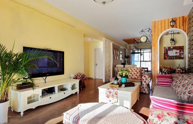 三居 田园 客厅图片来自四川岚庭装饰工程有限公司在10万打造110平田园风格三居室的分享