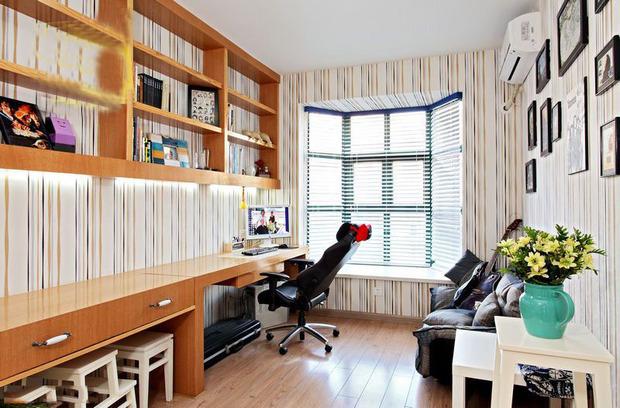 三居 田园 书房图片来自四川岚庭装饰工程有限公司在10万打造110平田园风格三居室的分享