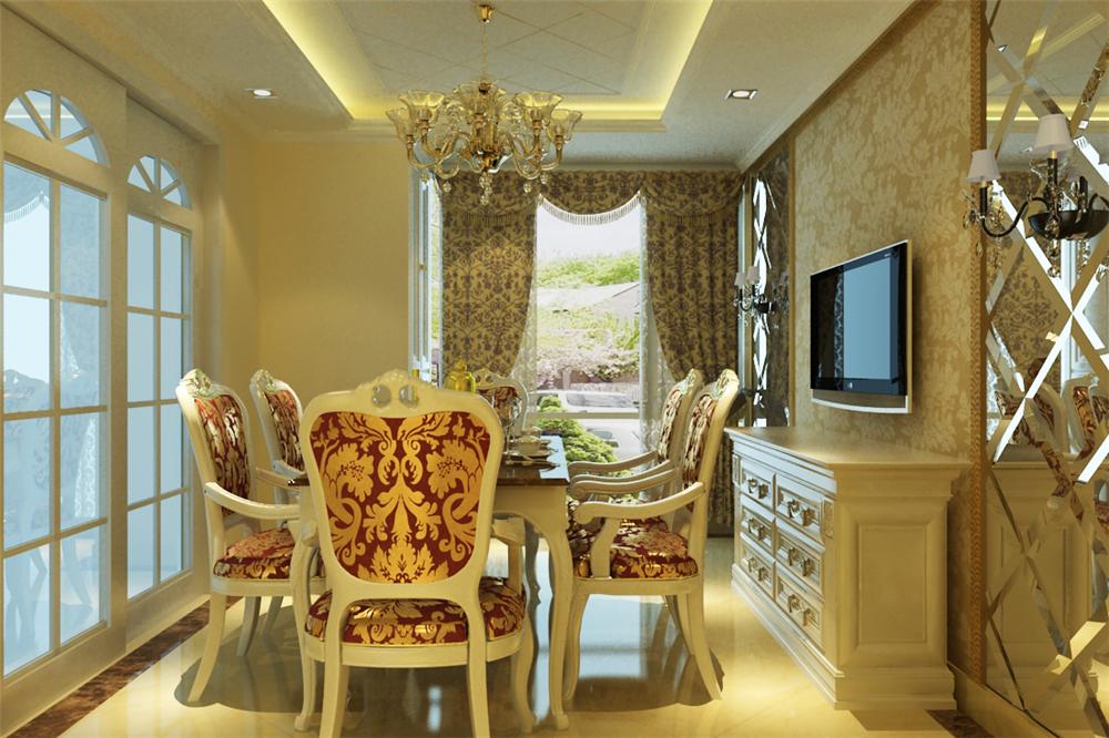 三居 白领 收纳 旧房改造 80后 小资 餐厅图片来自实创装饰完美家装在星河城二区130平简欧风格案例的分享