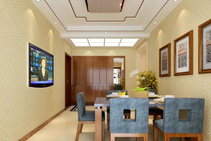 日升装饰 西安日升装 新中式效果 餐厅图片来自西安日升装饰在海泊香庭新中式的分享