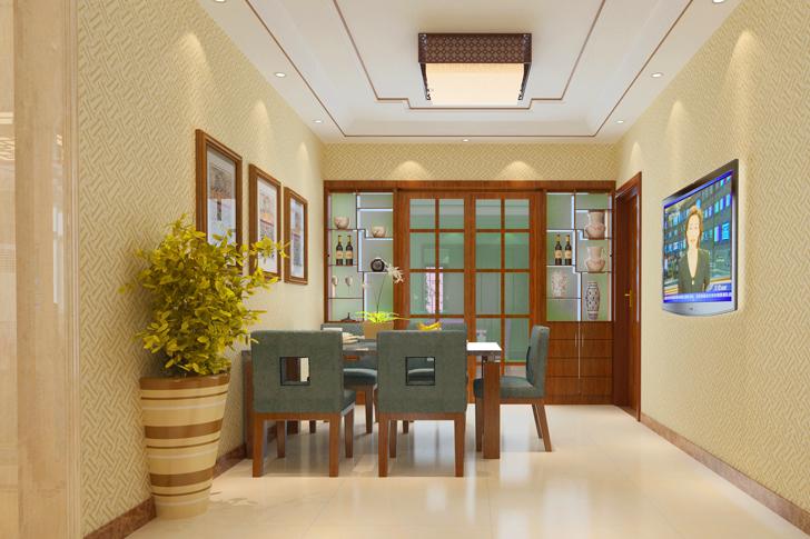 日升装饰 餐厅图片来自西安日升装饰在海泊香庭新中式的分享