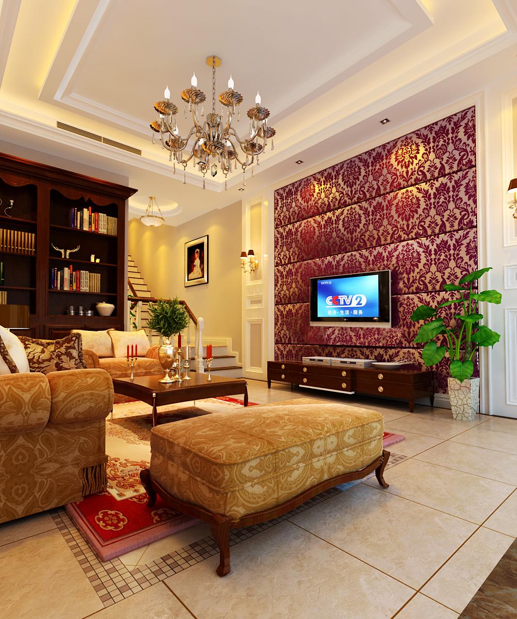 简约 欧式 复式 客厅图片来自实创装饰上海公司在280平复式欧式风格装修设计的分享
