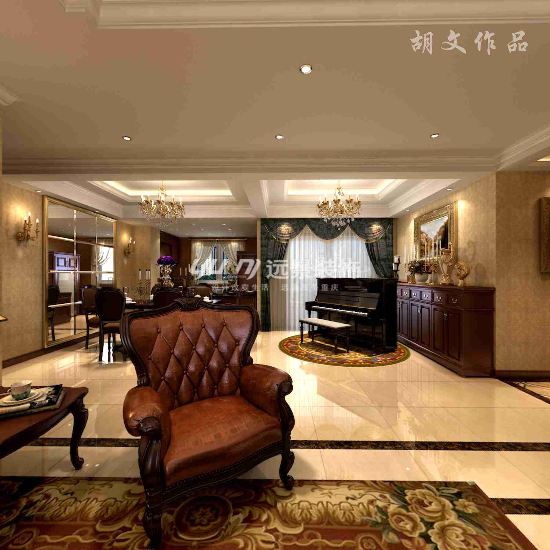 美式 客厅图片来自重庆远景装饰_张其斌在装得如此美的简美风格的分享