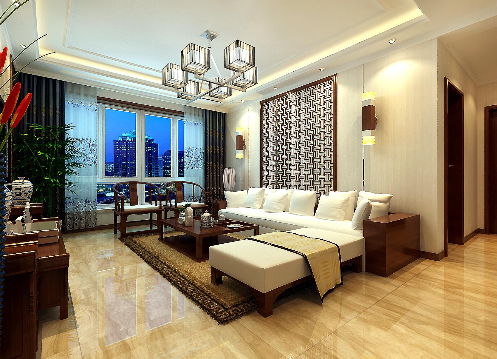 中式 三居 收纳 80后 客厅图片来自兰州业之峰大户型设计中心在中广宜景湾尚城110经典案例的分享