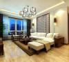 客厅是传统与现代居室风格的碰撞,设计师以现代的装饰手法和家具,结合古典中式的装饰元素,来呈现亦古亦今的空间氛围。